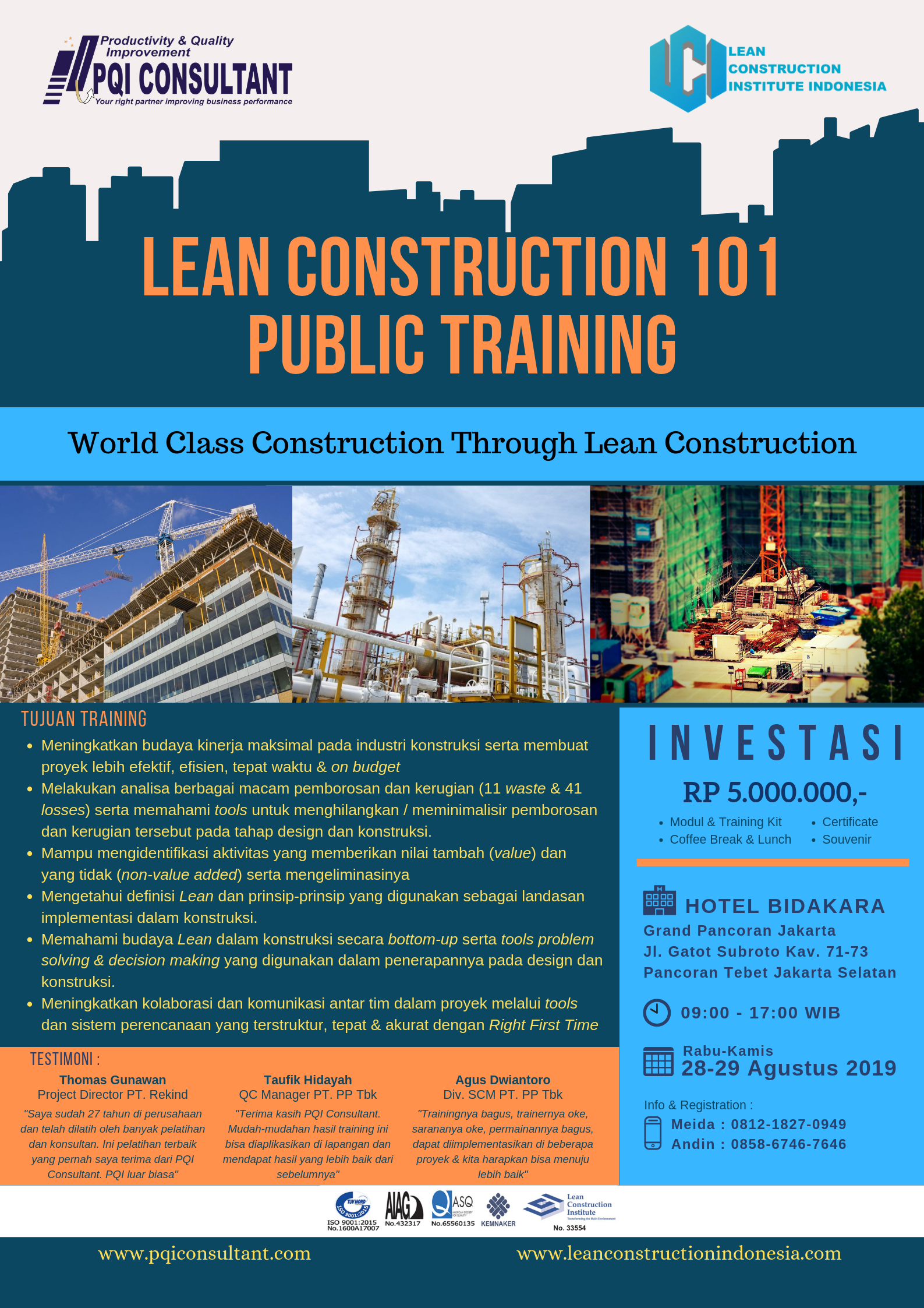 Lean Construction Indonesia Public Training